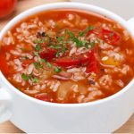 healthy tomato-rice soup recipe
