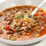 vegetarian soup with beans and spices