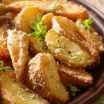 baked garlic-parmesan potato wedges recipe