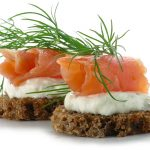 smoked salmon canapes appetizer recipe