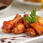sticky honey-mustard chicken wings recipe