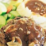 instant pot keto salisbury steak recipe. This delicious keto Salisbury steak is homemade from scratch and uses very simple ingredients. #instantpot #pressurecooker #keto #salisbury #steak #homemade #dinner #healthy