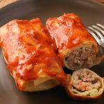Instant pot keto stuffed cabbage recipe. Meat-stuffed cabbage cooked in an electric instant pot. Healthy and easy. #instantpot #pressurecooker #dinner #keto #lowcarb #healthy #weightloss