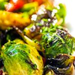 Instant pot glazed brussels sprouts recipe. Easy and healthy vegetarian-friendly Chinese recipe. The sweet, salty, spicy, and tangy flavor of the hoisin sauce works very well with Brussels sprouts. #instantpot #pressurecooker #vegetarian #healthy #dinner #homemade #glazed