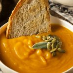 Instant pot healthy butternut squash soup recipe. Learn how to cook healthy and cozy vegetarian soup in an electric instant pot. #instantpot #pressurecooker #dinner #vegetarian #vegan#healthy #soup #cozy #homemade