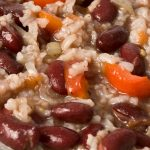 Instant pot vegetarian red beans and rice recipe. Learn how to cook easy and healthy vegetarian red beans and rice in an electric instant pot. #instantpot #pressurecooker #vegetarian #healthy #dinner #beans #rice #homemade