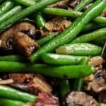 Instant pot keto bacon mushroom green bean casserole. Learn how to cook easy and yummy green beans and mushrooms casserole in an electric instant pot. #instantpot #pressurecooker #dinner #keto #diet #casserole