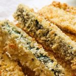 Air fryer crispy zucchini fries recipe. Learn how to cook crispy and delicious zucchini fries in an air fryer. #airfryer #appetizers #dinner #healthy #vegetarian