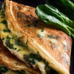 Air fryer cheesy spinach omelet recipe. Learn how to cook easy and delicious omelet in an air fryer. #airfryer #breakfast #omelet #spinach #easy #cheese