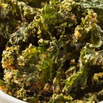 Air fryer healthy kale chips recipe. Very easy and healthy vegetarian recipe cooked in an air fryer. #airfryer #healthy #vegan #vegetarian