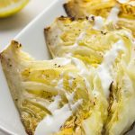 Air fryer roasted spicy cabbage recipe. Learn how to cook yummy cabbage in an air fryer. #airfryer #dinner #vegetarian #roasted