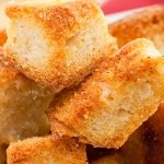 Air fryer sourdough croutons recipe. Super easy and tasty croutons fried in an air fryer. #airfryer #croutons #dinner #easy #yummy #delicious