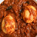 Instant pot masala egg roast recipe. Delicious and healthy Indian spicy eggs cooked in an instant pot. #instantpot #pressurecooker #eggs #indian #healthy #easy #spicy #masala
